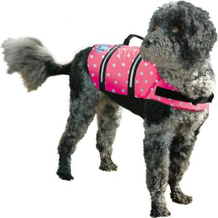 Paws Aboard Doggy Life Jacket Large-Pink Polka Dot - image 1 of 1