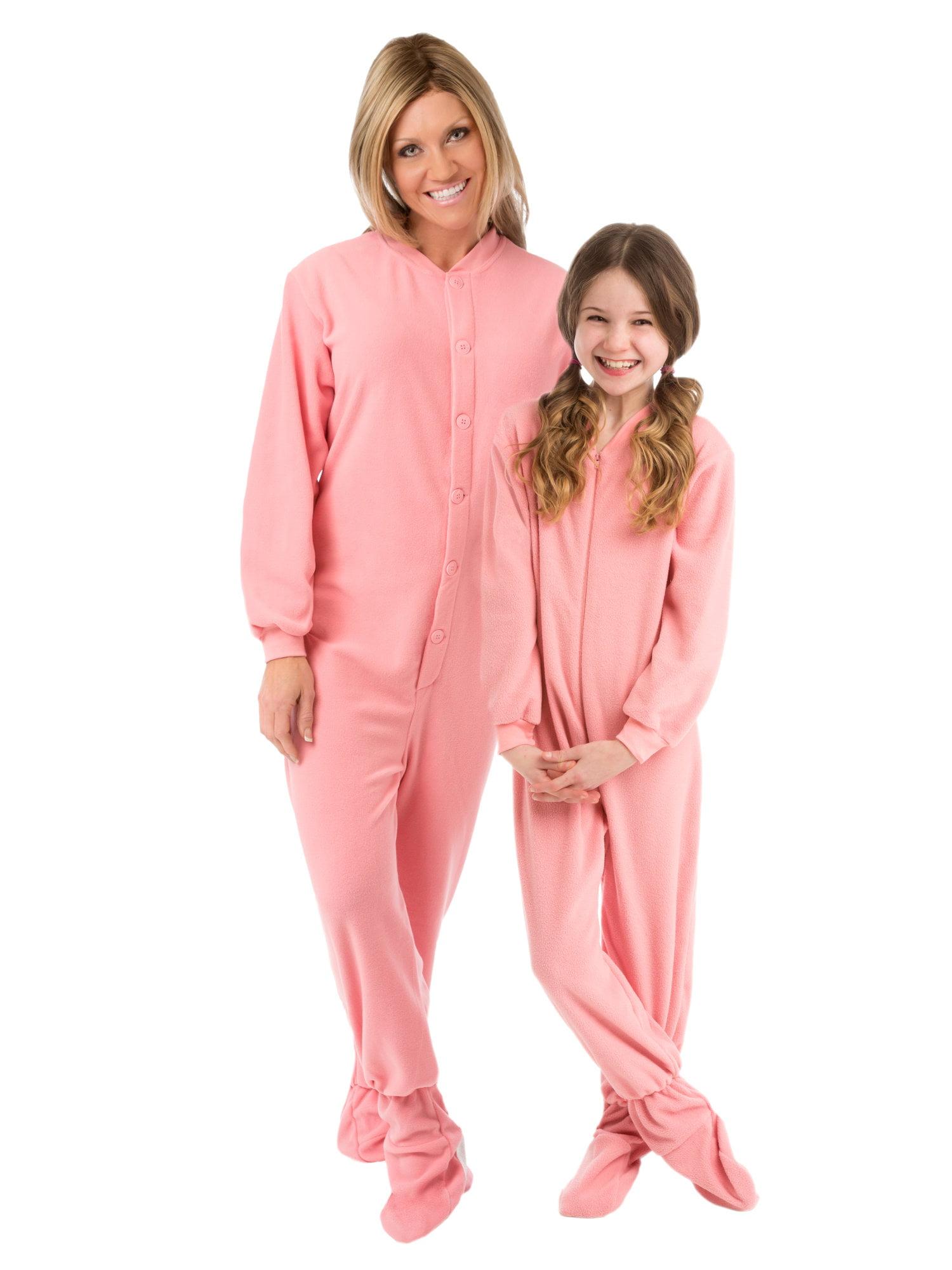832b4f0e41b4 Big Feet Pajamas - Big Feet Pjs Big Girls Kids Pink Fleece Footed ...