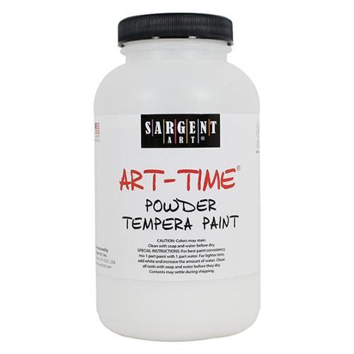 Sargent Art Art-Time Non-Toxic Powder Tempera Paint, 1 lb Jar, White