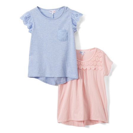 Lace and Crochet T-shirts, 2-Pack (Big Girls)