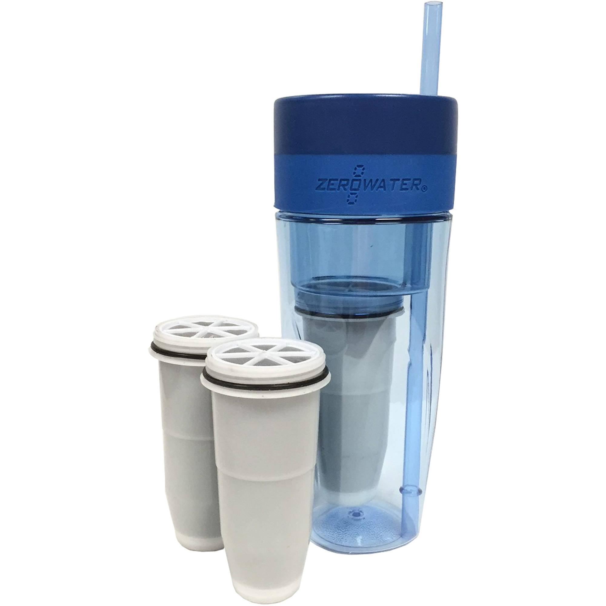 ZeroWater 26oz Portable Filtration Tumbler and 2-Pack of Replacement Filters by ZeroWater