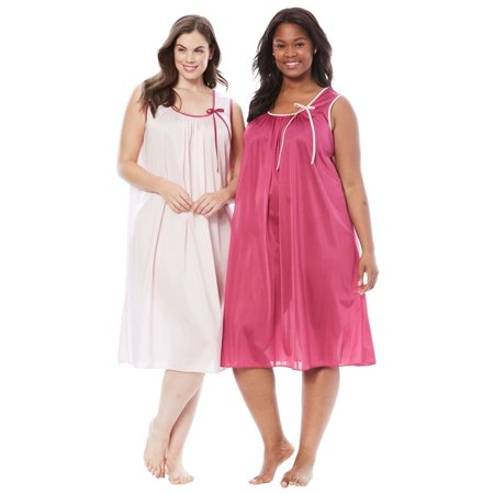 e5b351935a7 Only Necessities - Plus Size 2-pack Sleeveless Nightgown By Only Necessities  - Walmart.com