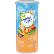 (36 Pitcher Packs) Crystal Light Peach Iced Tea Drink Mix, 1.5 oz