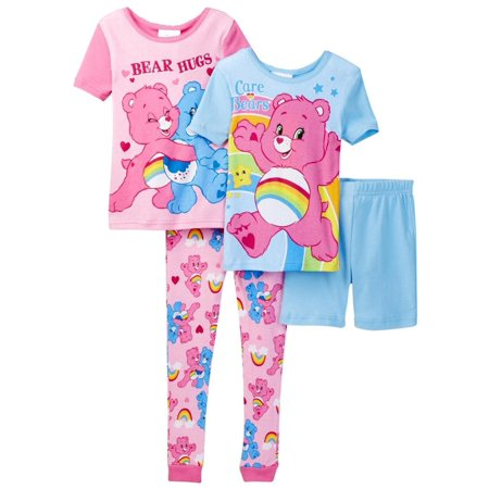 Care Bears Toddler Girls' 4 Piece Cotton Pajama Set - Toddler Care Bear Costume