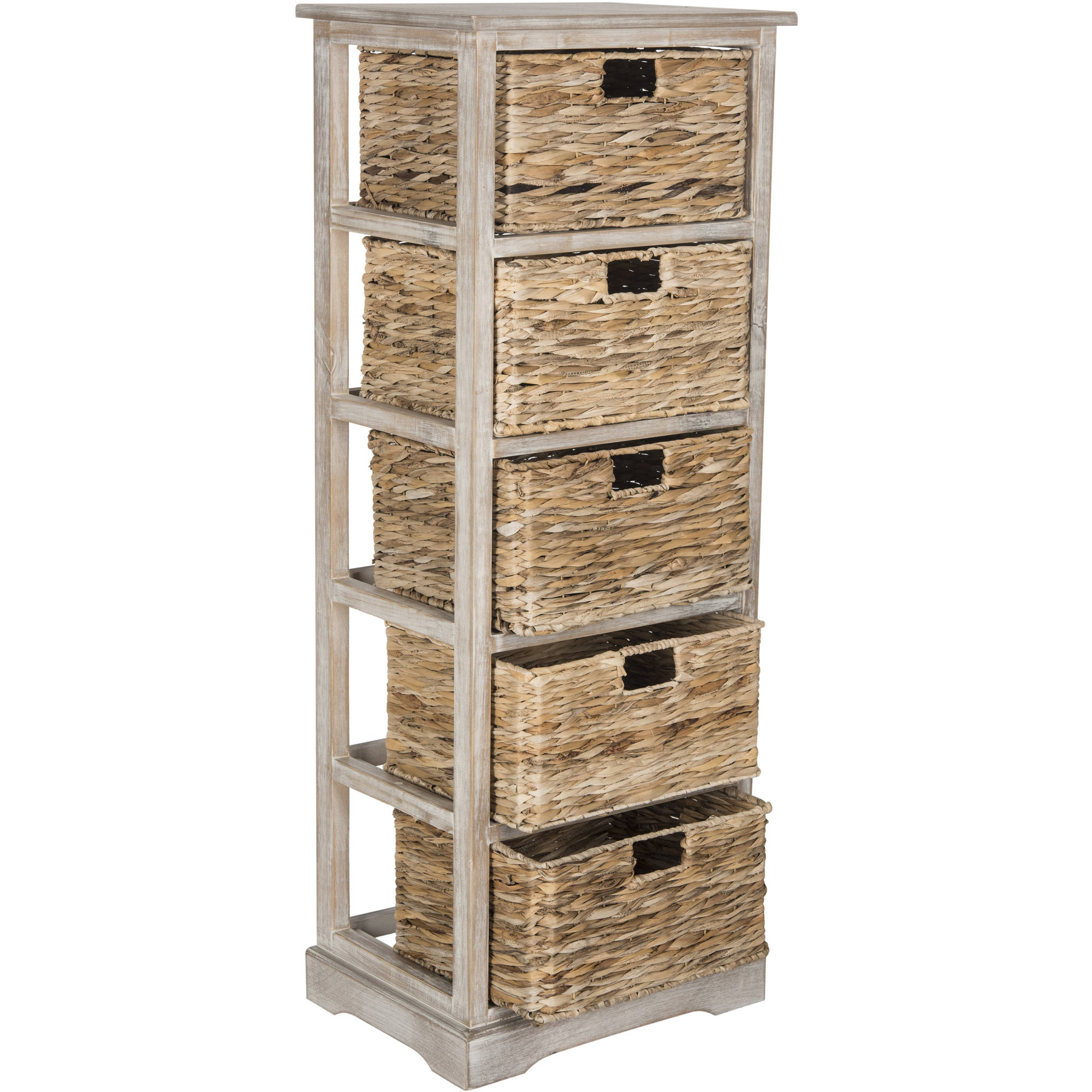 Safavieh Vedette 5 Wicker Basket Storage Tower   Walmart.com