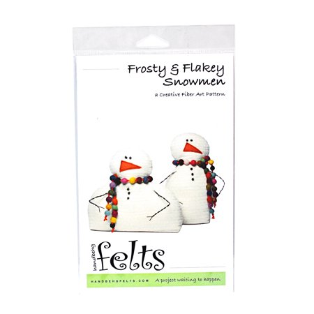Felt Art (Handbeng Felts Frosty & Flakey Snowmen Creative Fiber Art Pattern )