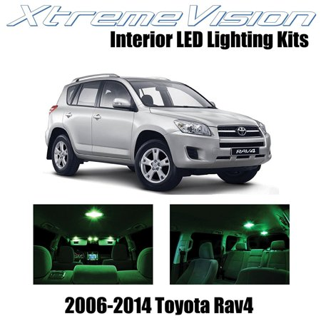 XtremeVision LED for Toyota RAV4 2006-2014 (6 Pieces) Green Premium Interior LED Kit Package + Installation Tool