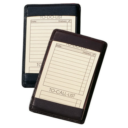 Royce Leather 705-BLACK-5 Traditional Note Jotter - Black - Leather Traditional Note Jotter