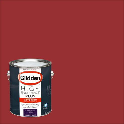 Glidden High Endurance Plus Exterior Paint and Primer, Candy Apple, #04YR 11/537