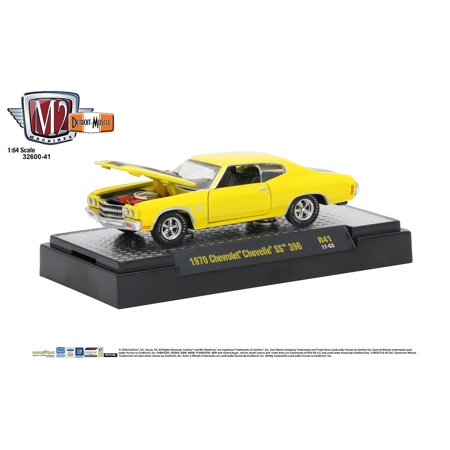 Chevrolet Chevelle Carpet - M2 Machines 1:64 Detroit Muscle Release 41 1970 Chevrolet Chevelle SS 396 Yellow