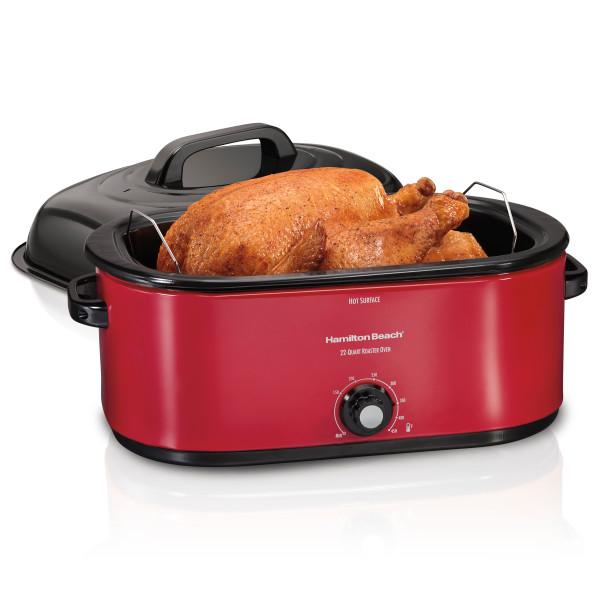 Hamilton Beach 28 Lb Turkey Roaster 22 Quart Oven | Red Model# 32231
