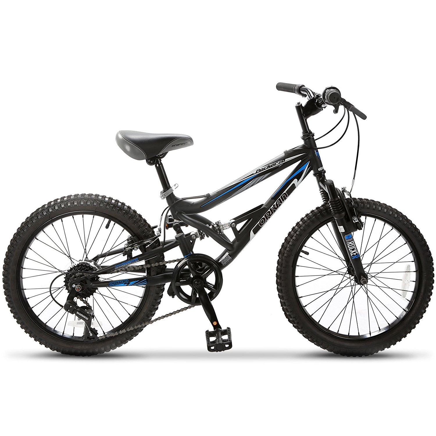 Uenjoy 20-Inch Children Kid's Mountain Bike 7 Speed Shimano Hybrid bike,Black by Uenjoy