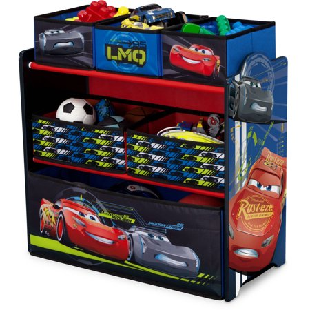 Childrens Toy Box - Disney Pixar Cars Multi-Bin Toy Organizer by Delta Children