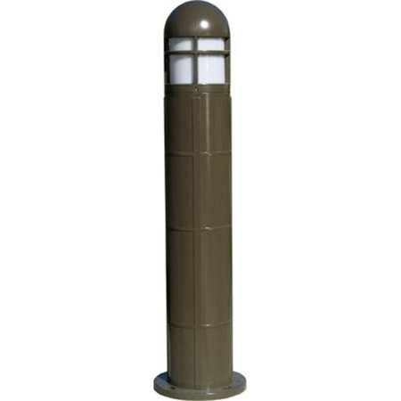 Dabmar Lighting D142-50-BZ-MT 50W Fiberglass Bollard with High Pressure Sodium Lamp, Bronze - 41.84 x 10.25 x 10.25 in. - image 1 of 1