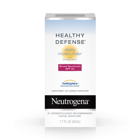 Neutrogena Healthy Defense Daily Face Moisturizer with SPF 50, 1.7 fl. oz Daily Luminous Face Moisturizer