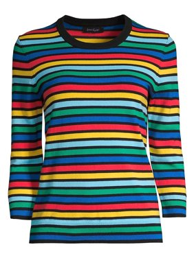 9e9da69cef Product Image Rainbow-Stripe Three-Quarter Sweater. Lord   Taylor