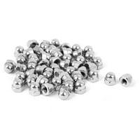 M3 Thread Dia Dome Head Carbide Steel Cap Acorn Hex Nuts 50pcs