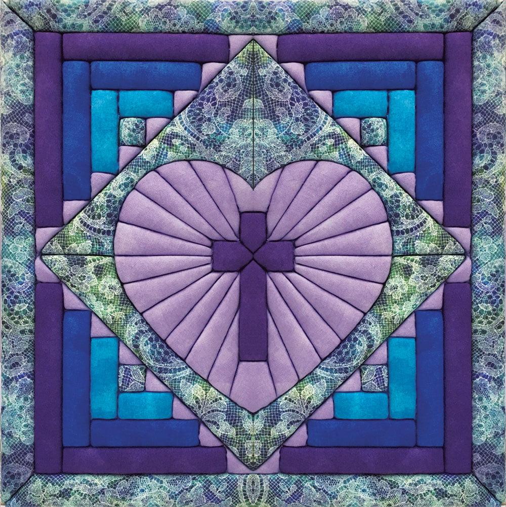 Cross in Heart Quilt Magic Kit