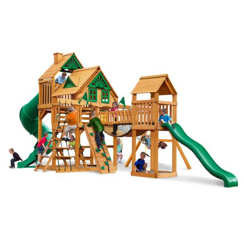 Gorilla Playsets Treasure Trove Treehouse Swing Set with Amber Posts by Overstock