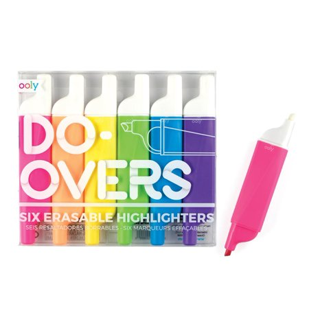 Do-Overs Erasable Highlighters (Set of 6) (Other) - Do Highlighters Glow In Blacklight