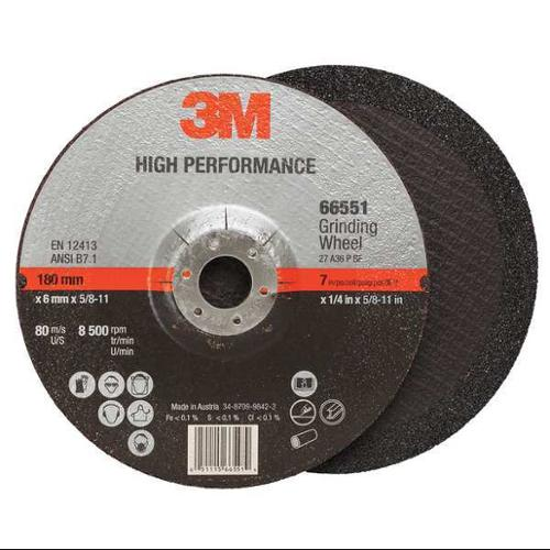 Type 27 High Performance Depressed Center Grinding Wheel, 3M, 66551