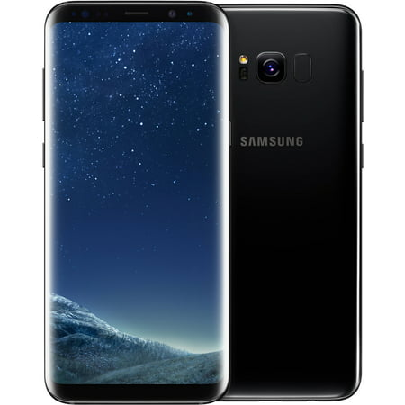 Samsung Galaxy S8+ G955U 64GB Unlocked GSM U.S. Version Phone - w/ 12MP Camera - Midnight Black (Certified Refurbished)
