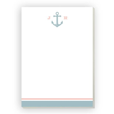 Anchor Monogram Personalized Notepad