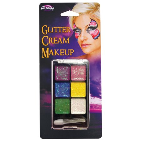 Cream Halloween Makeup - Glitter Creme Makeup Palette Adult Halloween Accessory
