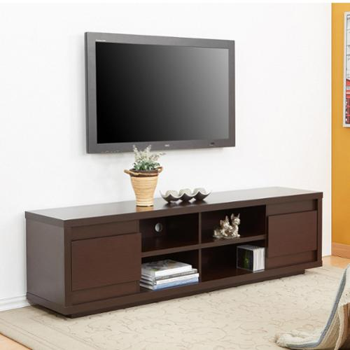 Furniture Of America Irvine Contemporary 70 Inch Entertainment TV Console