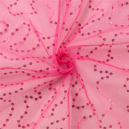 Hot Pink Sequin Mesh, Fabric By the Yard - Hot Pink Fabric