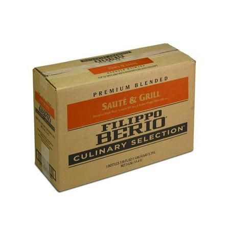 Filippo Berio Culinary Selection 100087795 Saute & Grill Olive Oil Blend 80/20 Canola/Evoo 3-1 (Evoo Olive Oil)