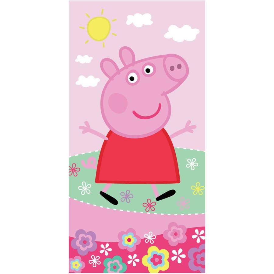 Peppa Pig 'Peppa's Pond' Kids Bath Towel by Franco