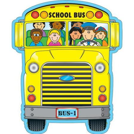 Frank Schaffer Publications/Carson Dellosa Publications 2 sided Decoration School Bus Bulletin Board Cut Out (Bulletin Board Decorations)