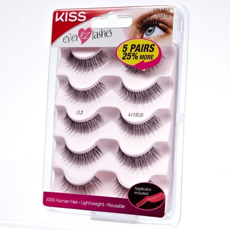 KISS Ever EZ Lashes, Multipack 03 (Kiss And Makeup 01 Halloween)