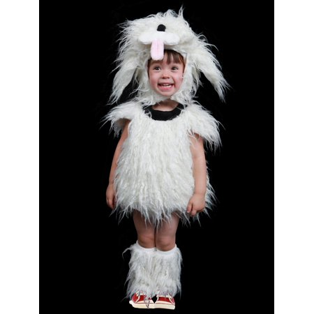 Toddler Shaggy White Dog Infant Halloween Costume