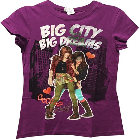 Disney Shake It Up Big City Big Dreams Girl's T-Shirt Purple - Disney Shake It Up
