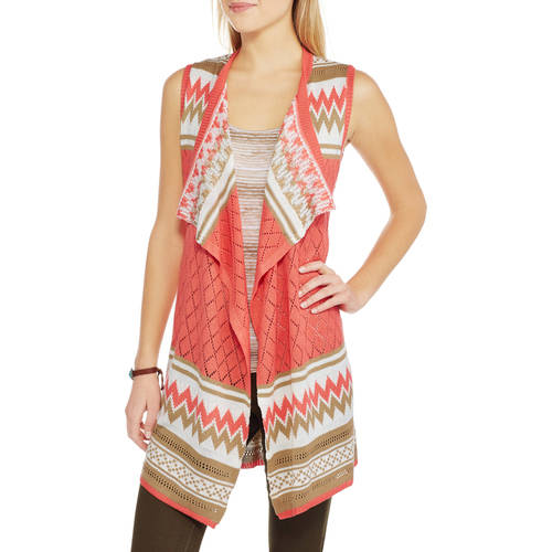 No Boundaries Juniors' Pointelle Vest