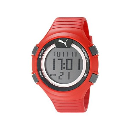 Pu911281003 Men's Faas 100 L Multi-Function Red Rubber Digital Dial Red Rubber Watch (Watches Puma Man)