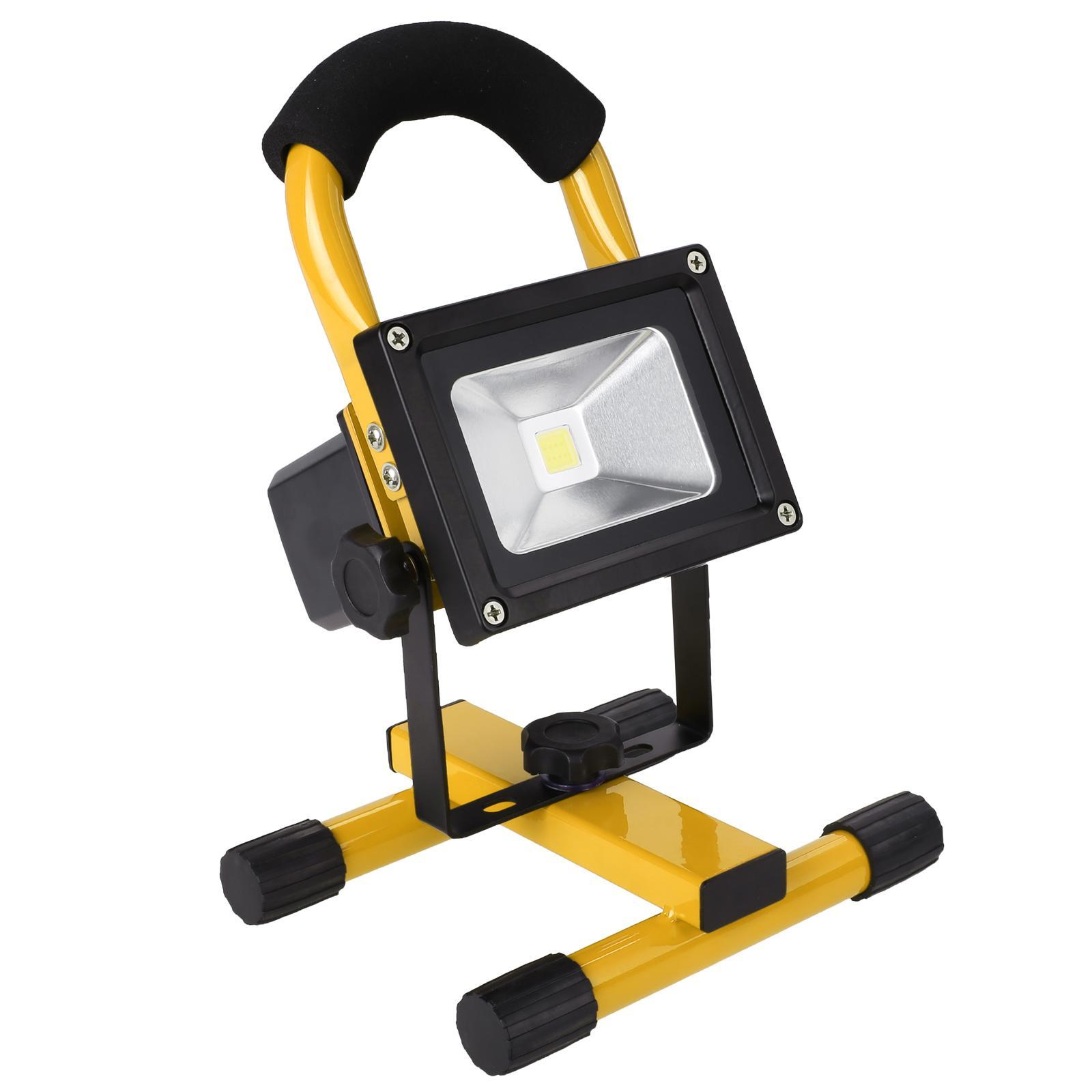 10W Wireless Rechargeable LED Flood Light, Outdoor Camping Hiking Lamp US Plug CDICT