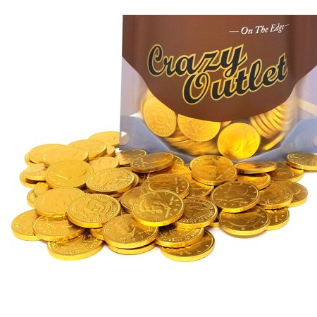 Milk Chocolate Gold Coins Candy, Large 1.5 Inch, Chocolate Candy Bulk 1 lb - Bulk Chocolate Coins