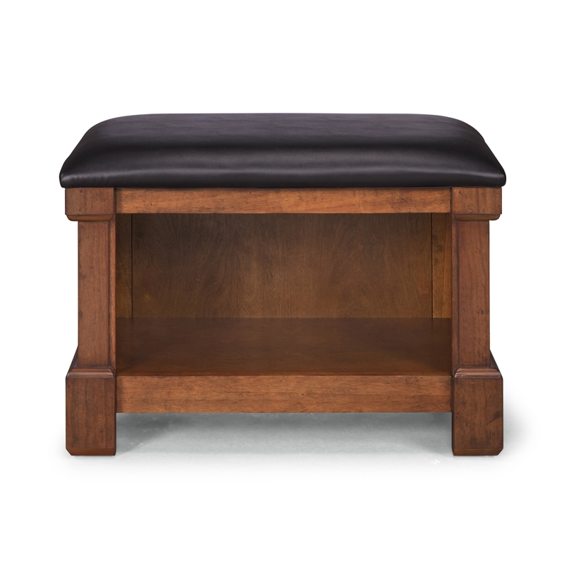 Aspen Rustic Cherry Storage Bench