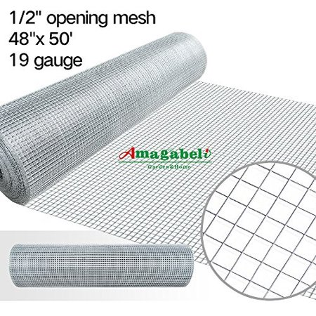48 x 50 1/2inch openings square mesh welded wire 19 gauge hot-dipped galvanized hardware cloth gutter guards plant supports poultry enclosure chicken run fence indoor rabbit pen cage wire window (Building Your Own Chicken Coop And Run)