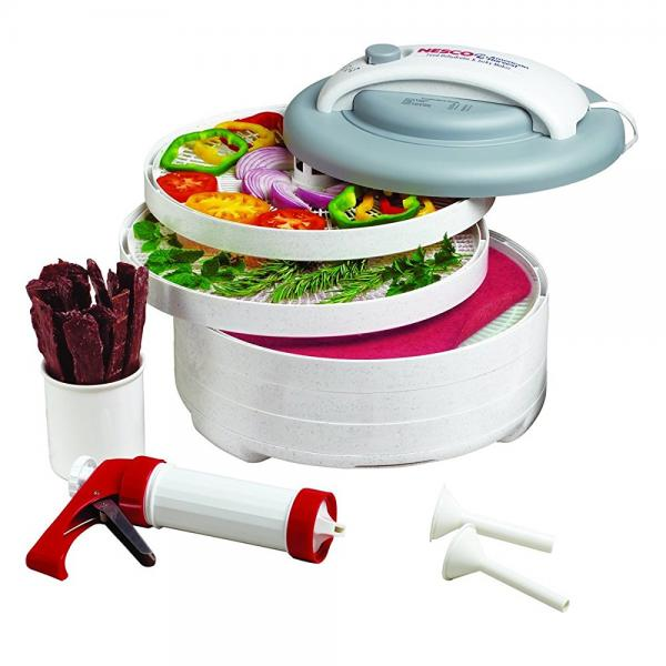 Nesco FD-61WHC Snackmaster Express Food Dehydrator All-In...