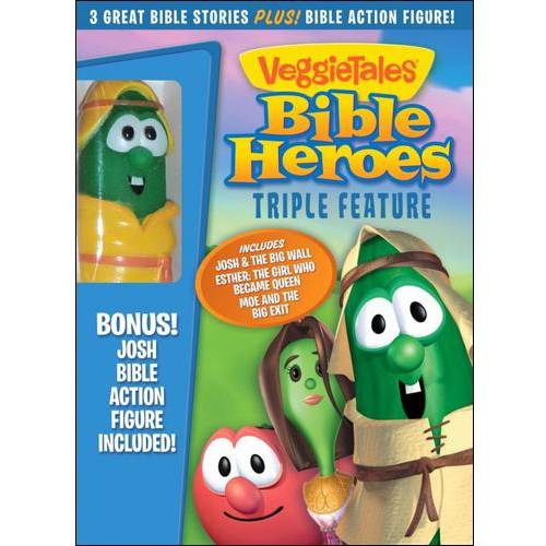 VeggieTales: Bible Heroes Triple Feature - Josh & The Big Wall / Esther: The Girl Who Became Queen / Abe And The Amazing Promise (Josh Bible Action Figure Included) (Widescreen)