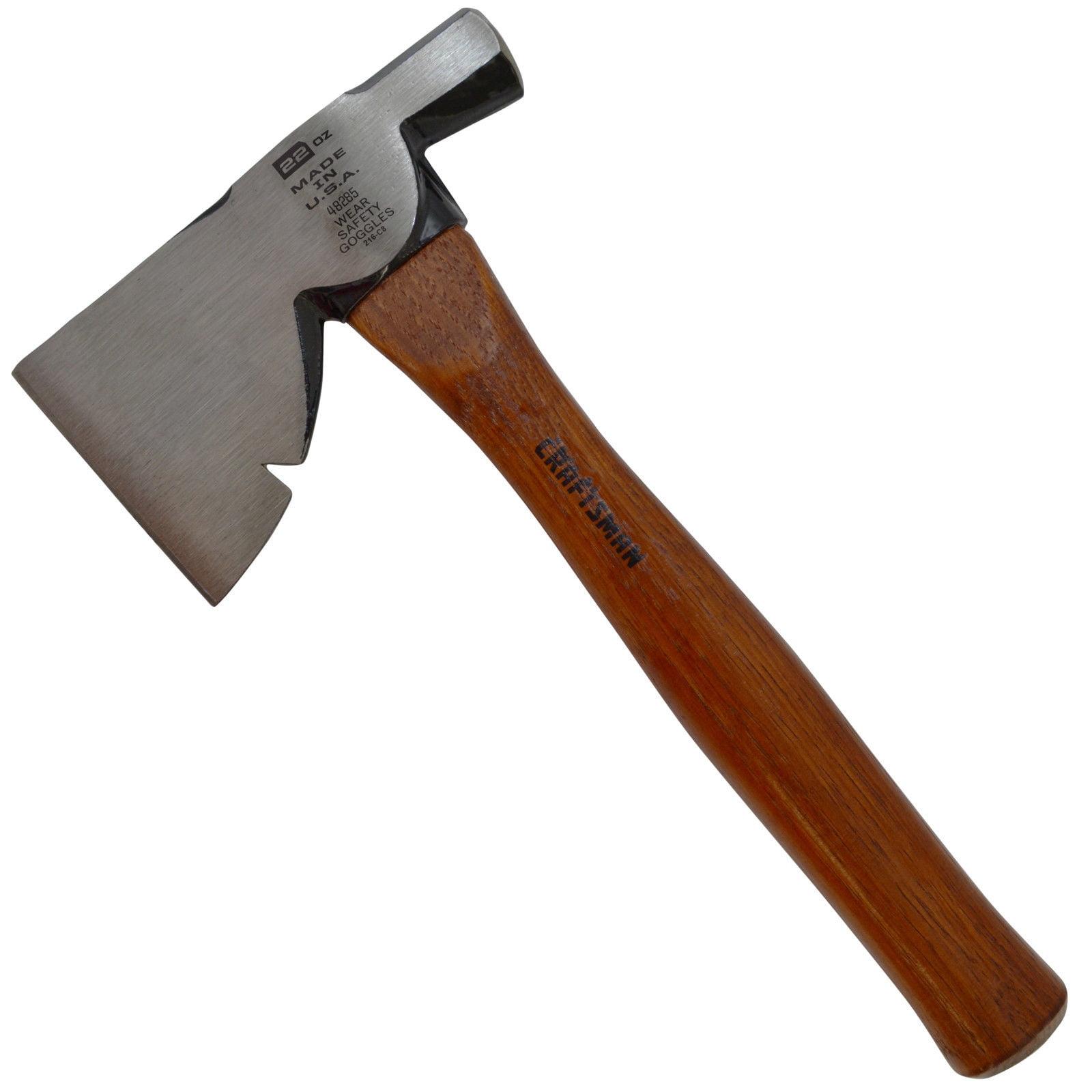 Craftsman Half Hatchet 22 oz. Head Axe 3-1 2 in. Blade Hickory Handle Lawn Garden Hand Tool 48285 by