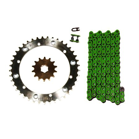 Green 520x110 O-Ring Drive Chain & 13/43 Sprockets 1989-2006 Yamaha Banshee 350