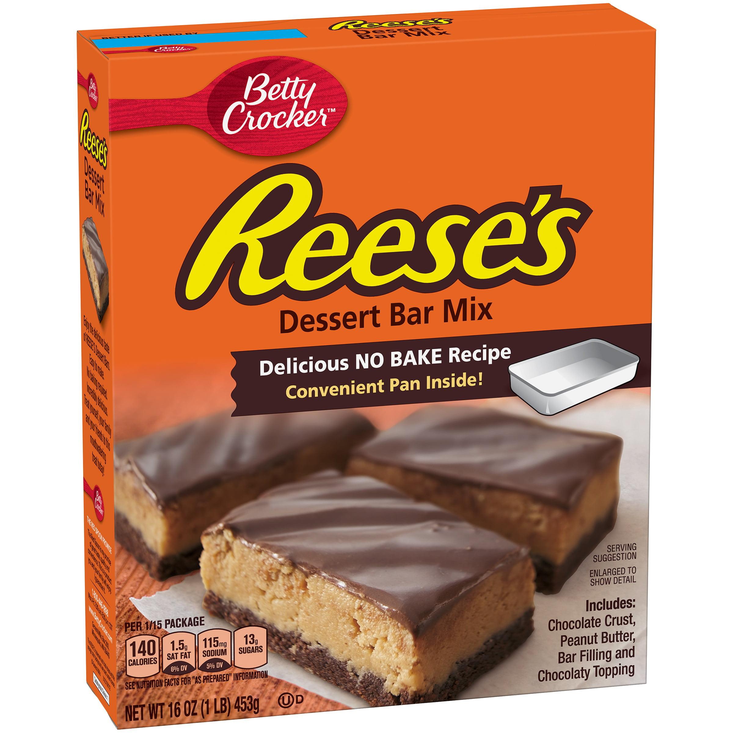 Betty Crocker Hershey's Dessert Bar Mix Reese's No Bake Recipe 16.0 oz Box by General Mills Sales, Inc.
