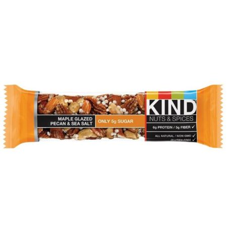 - Kind Nuts - Spices Bar, 1.4 oz bars, Maple Glazed Pecan - Sea Salt, 12 bars