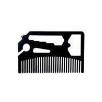 Multifunctional Beard Comb Beard Wallet Comb Stainless Steel Bottle Opener Wrench Screw Driver Knife Blade Breakaway