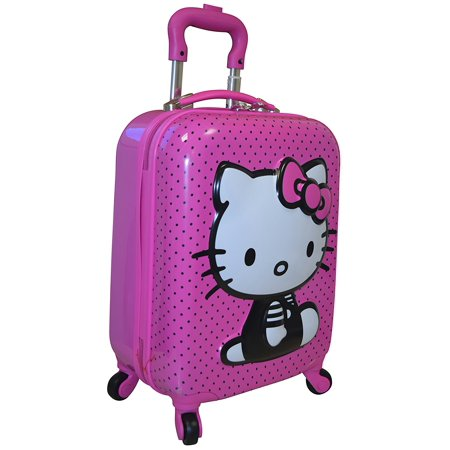 c6dbf6a9a Hello Kitty - Hasbro Girl's 18 Hardside 3D Spinner Carry On Luggage -  Walmart.com